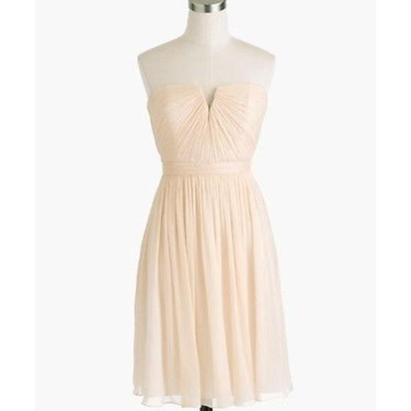 J. Crew Dresses | J Crew Nadia Dress Champagne | Poshmark